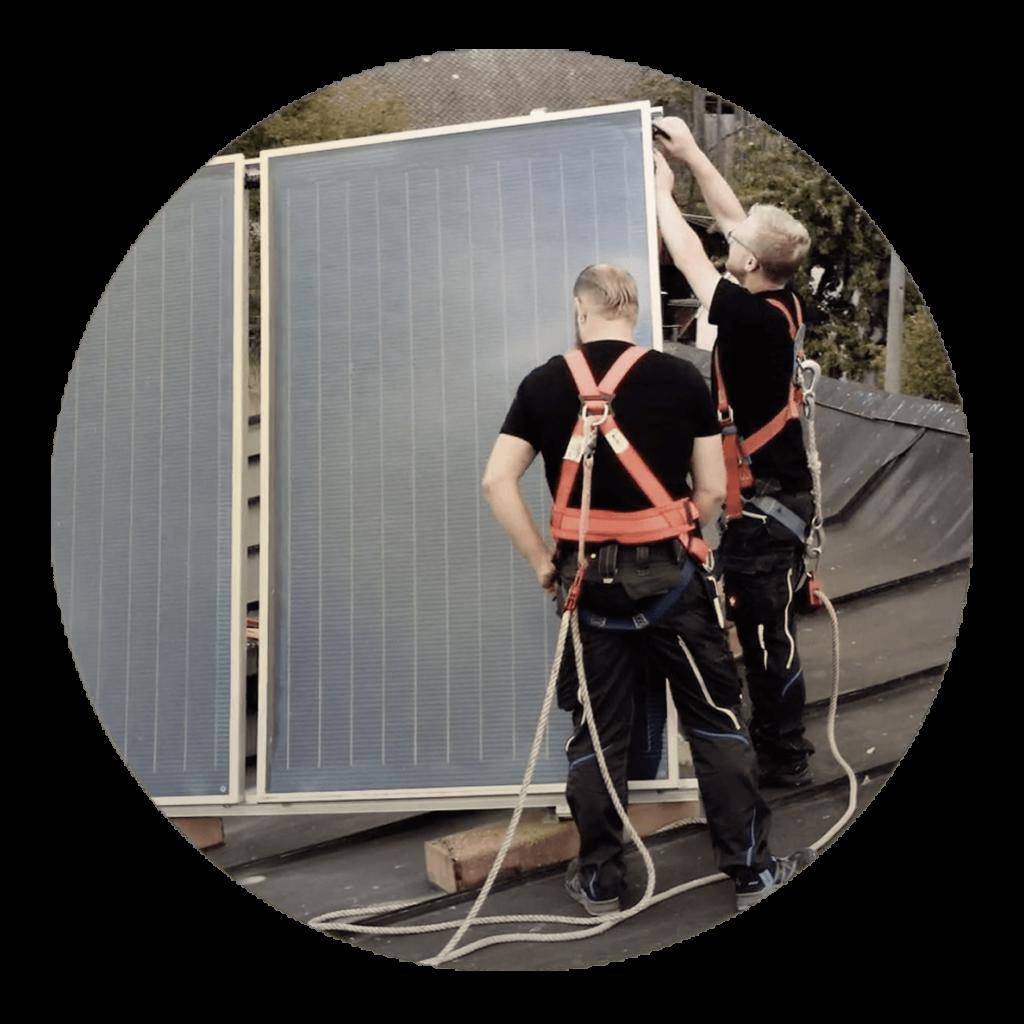Aufbau einer Solaranlage von Steckert Thalmaessing